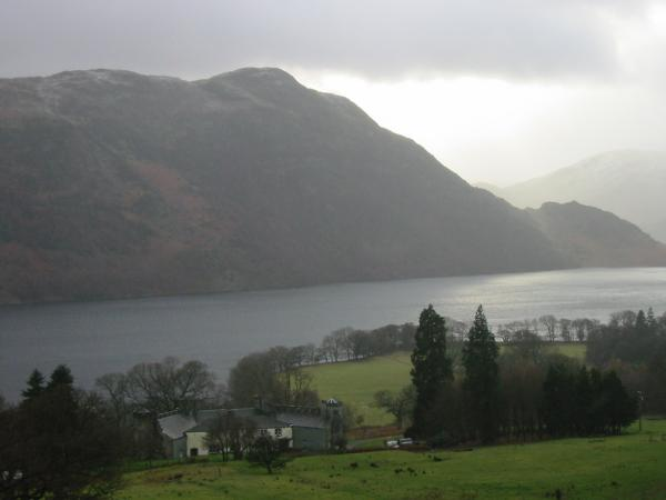 Lyulph's Tower, Ullswater, and Place Fell from near the end of the traverse