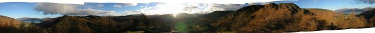 360 Panorama from Castle Crag summit