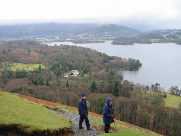 Latrigg, Keswick and Derwent Water from the climb up Catbells