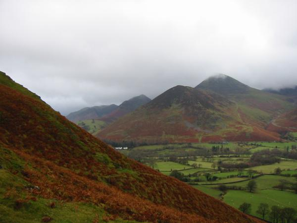 Rowling End and Causey Pike from Catbells northern ridge
