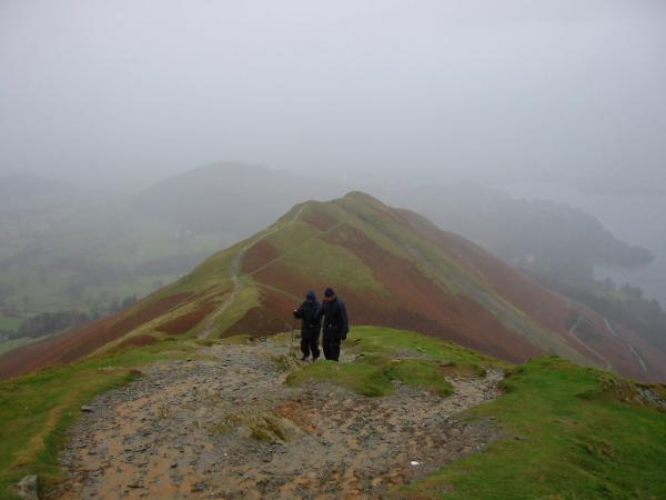 Approaching Catbells summit