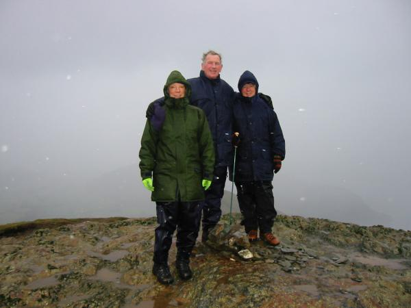 Catbells summit, wet and windy!