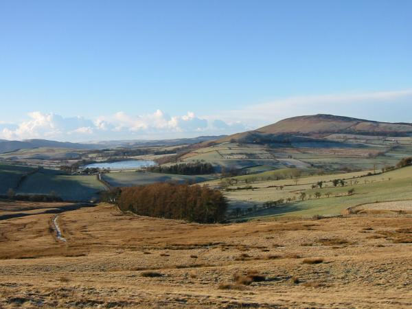 Over Water and Binsey from the climb up Longlands Fell