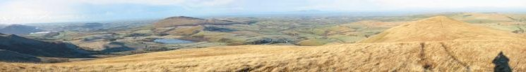 Panorama northwestwards from Lowthwaite Fell