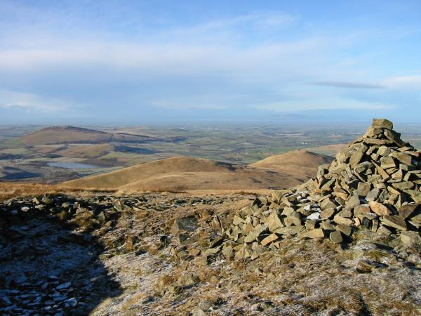 Binsey, Lowthwaite Fell and Longlands Fell from Little Sca Fell summit