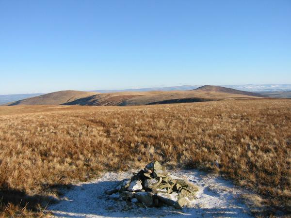 High Pike and Carrock Fell from Great Sca Fell summit