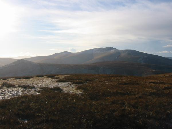 Great Calva with Skiddaw behind from Knott summit