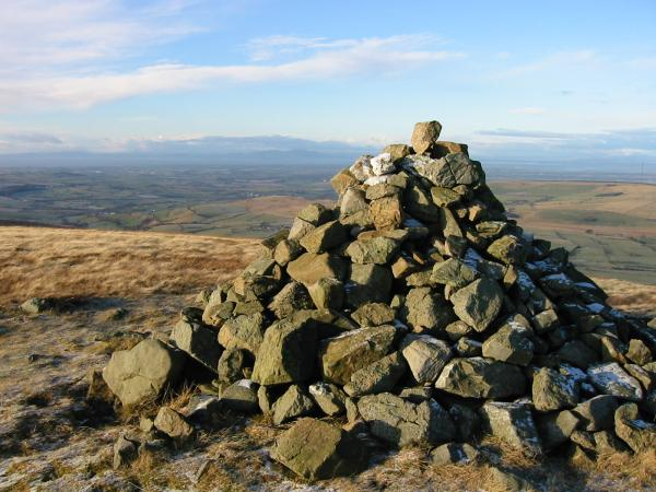 Looking northwards into Scotland from Brae Fell summit