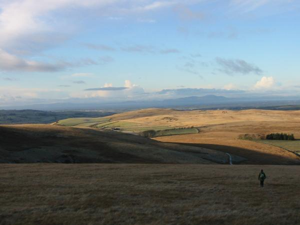 Descending northwards off Brae Fell