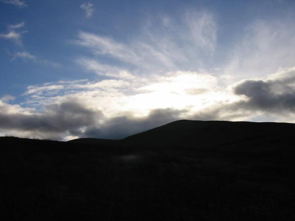 Clouds above Longlands Fell from the descent off Brae Fell