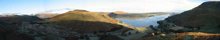 Panorama from the climb up Steel Knotts