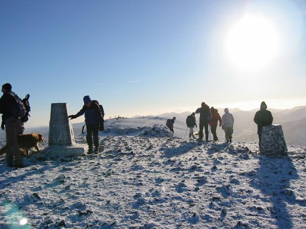 Skiddaw's crowded summit