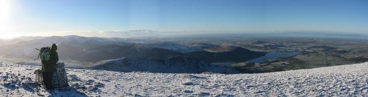 Westward panorama from Skiddaw's summit