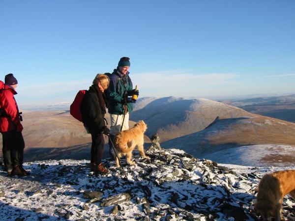 Ann and Roger reach Little Man's summit, their final Wainwright!