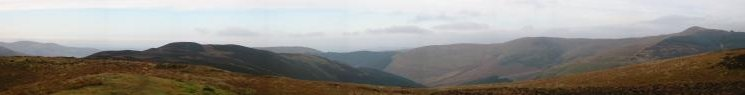 North westerly panorama from Whinlatter Top (Brown How to Lord's Seat)