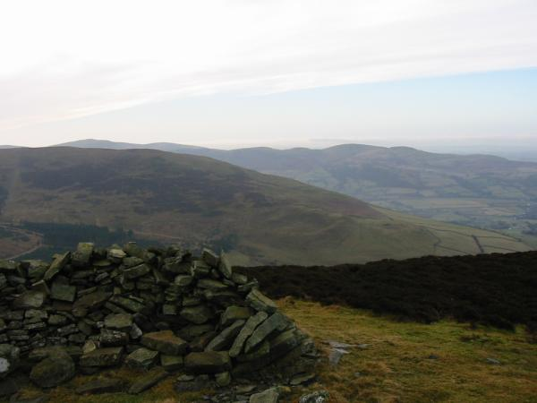 Hopegill Head's northwest ridge with the Loweswater Fells behind from Brown How, Whinlatter