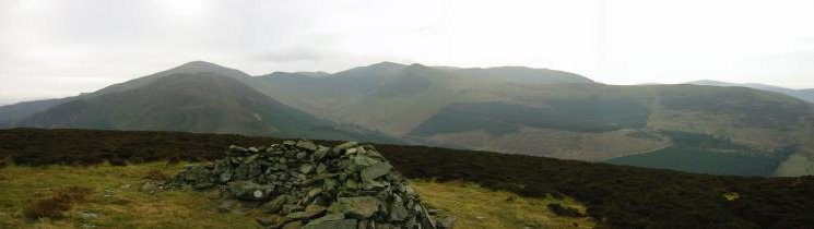 Grizedale Pike and Hopegill Head from Brown How, Whinlatter