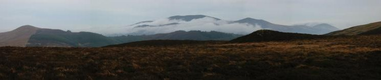 Lord's Seat, Skiddaw and Little Man from Whinlatter
