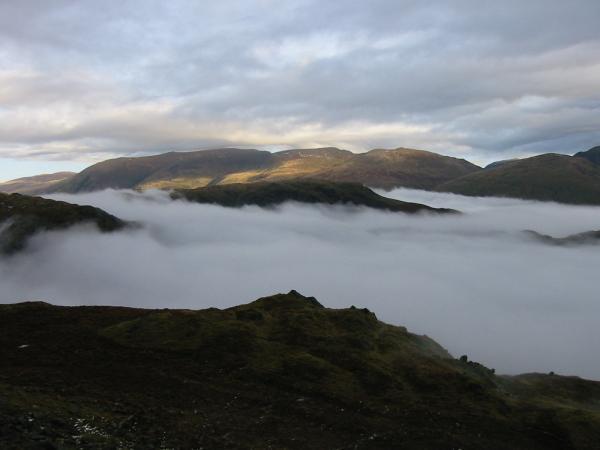 Helvellyn ridge from Tarn Crag