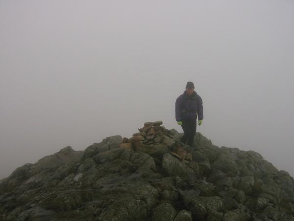 Sergeant Man summit in the cloud