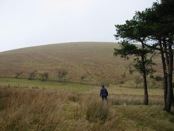 Starting the ascent of Little Mell Fell from The Hause