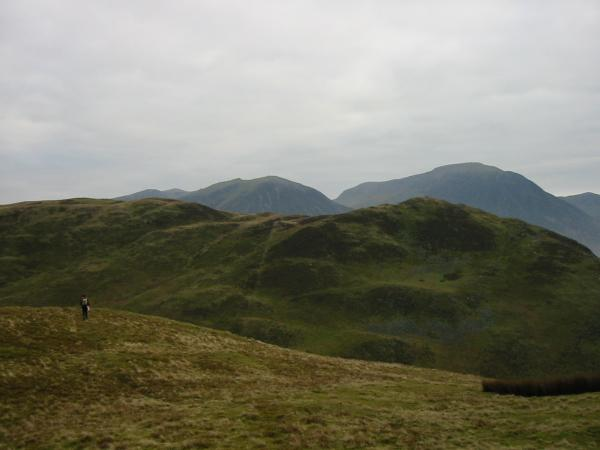 Low Fell with Whiteside and Grasmoor behind from Darling Fell