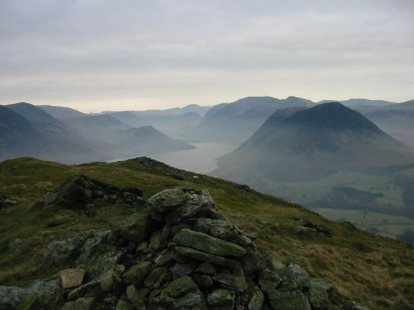 Crummock Water and the western fells from Low Fell's southern top