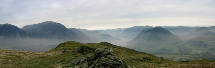 Panorama from Low Fell's southern top