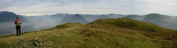 Panorama from Low Fell's northern top