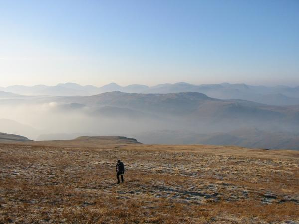 Approaching Clough Head summit