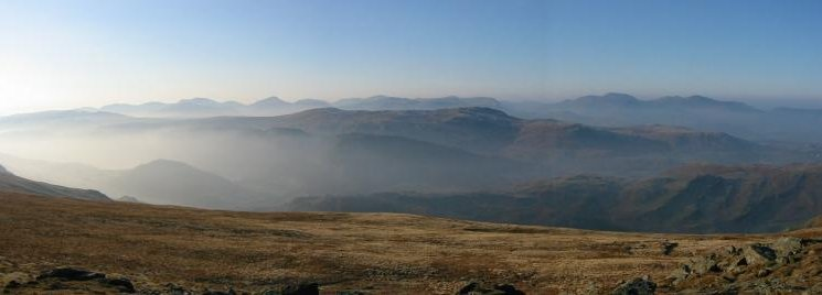 Westerly panorama from Calfhow Pike summit