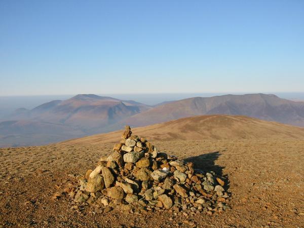 Skiddaw Fells, Blencathra and Clough Head from Great Dodd summit