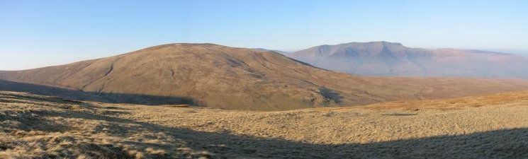 Clough Head and Blencathra from the descent off Randerside