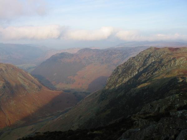 Eagle Crag from the climb up Sergeant's Crag