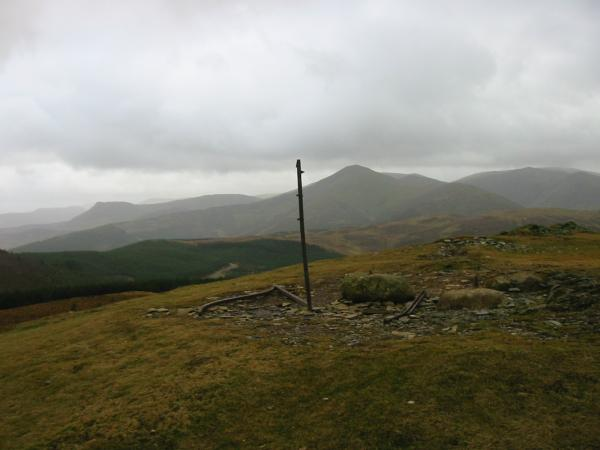 Causey Pike, Grisedale Pike and Hopegill Head from Lord's Seat summit