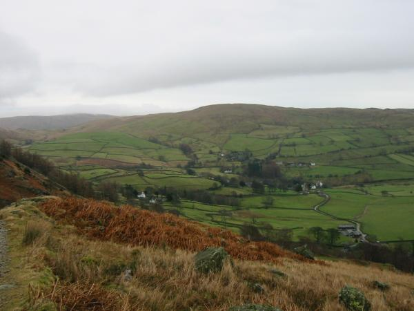 Looking across the Kentmere valley to Green Quarter Fell