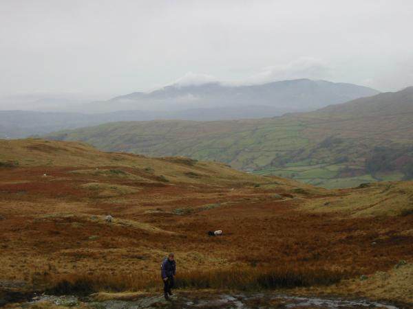 The Coniston Fells from the path up Yoke from Garburn Pass
