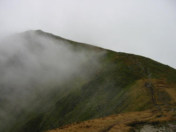 Looking back to Ill Bell from the climb up Froswick