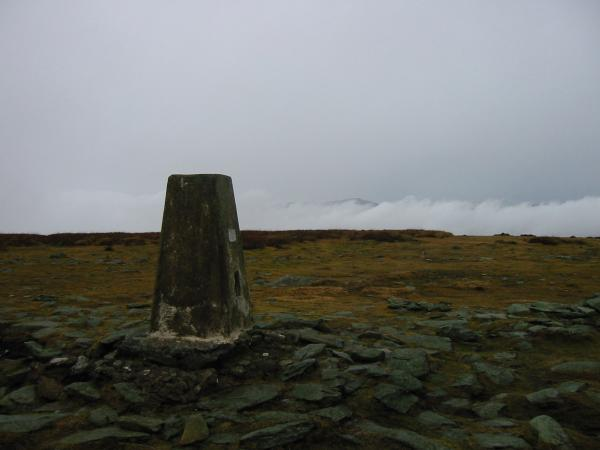 The trig point at High Street's summit
