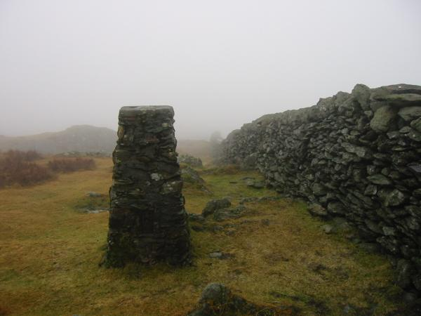 Trig point at Kentmere Pike summit