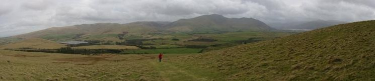 Panorama of the northern fells from Binsey