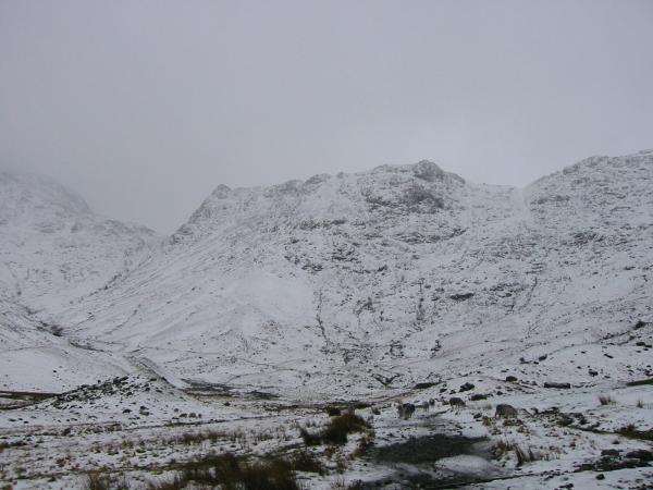 Mickleden with Rossett Pike straight ahead