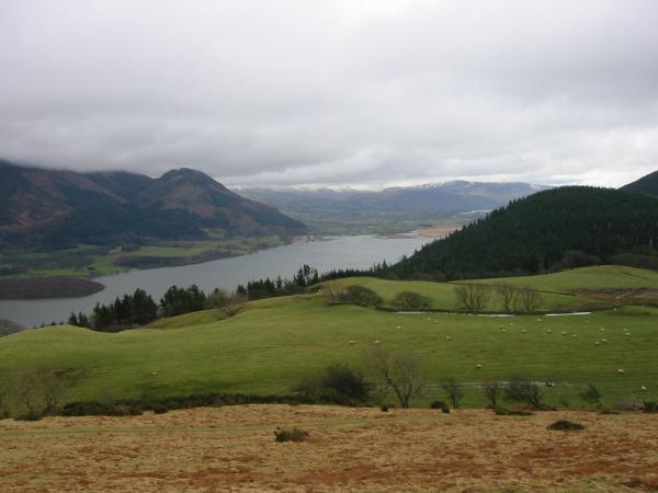 Dodd and Bassenthwaite Lake from the slopes of Lothwaite