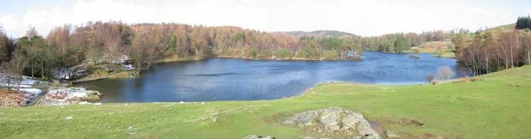 Panorama of Tarn Hows
