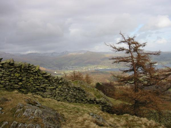 Ambleside with the Ill Bell ridge behind from Black Crag summit