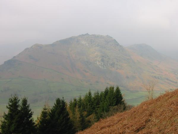 Helm Crag from the climb up Stone Arthur