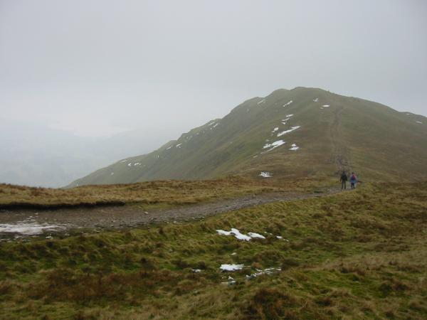 Approaching Heron Pike summit