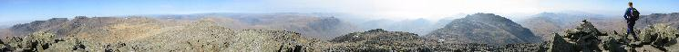 360 Panorama from Bowfell summit