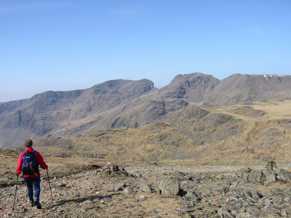 Descending to Ore Gap with the Scafells ahead