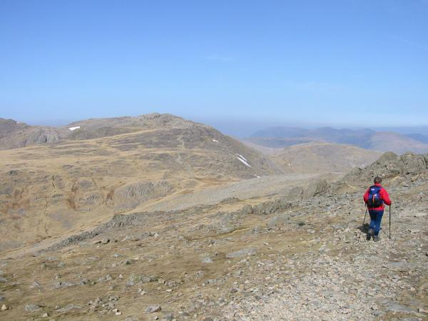 Descending to Ore Gap with Esk Pike ahead